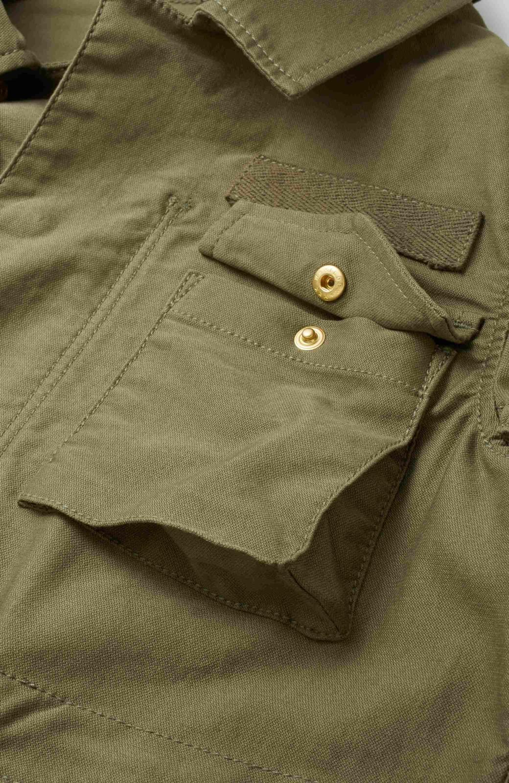 エムトロワ シャツ感覚で気軽に羽織って様になる ミリタリージャケット <カーキ>の商品写真3