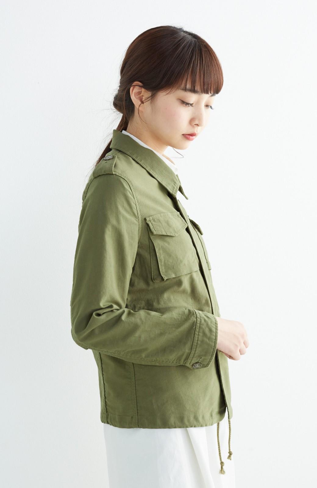 エムトロワ シャツ感覚で気軽に羽織って様になる ミリタリージャケット <カーキ>の商品写真14