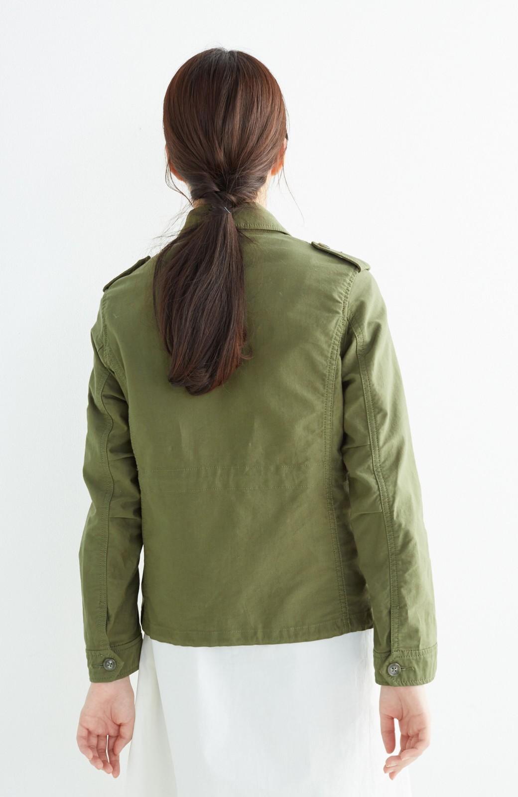エムトロワ シャツ感覚で気軽に羽織って様になる ミリタリージャケット <カーキ>の商品写真18