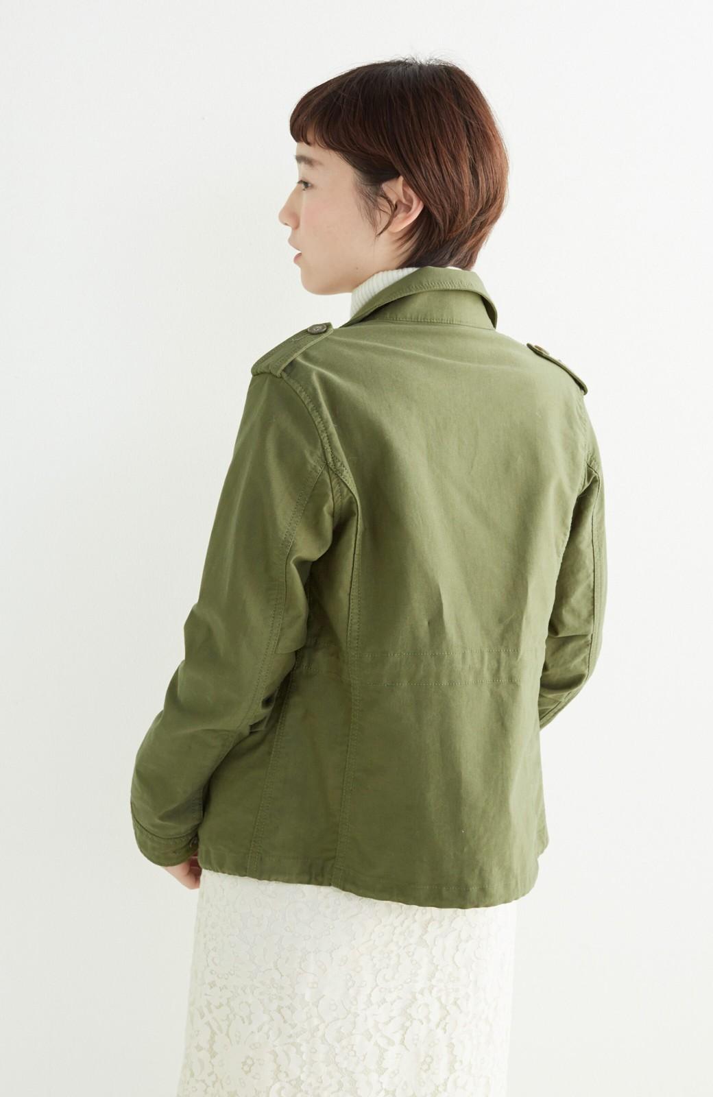 エムトロワ シャツ感覚で気軽に羽織って様になる ミリタリージャケット <カーキ>の商品写真19