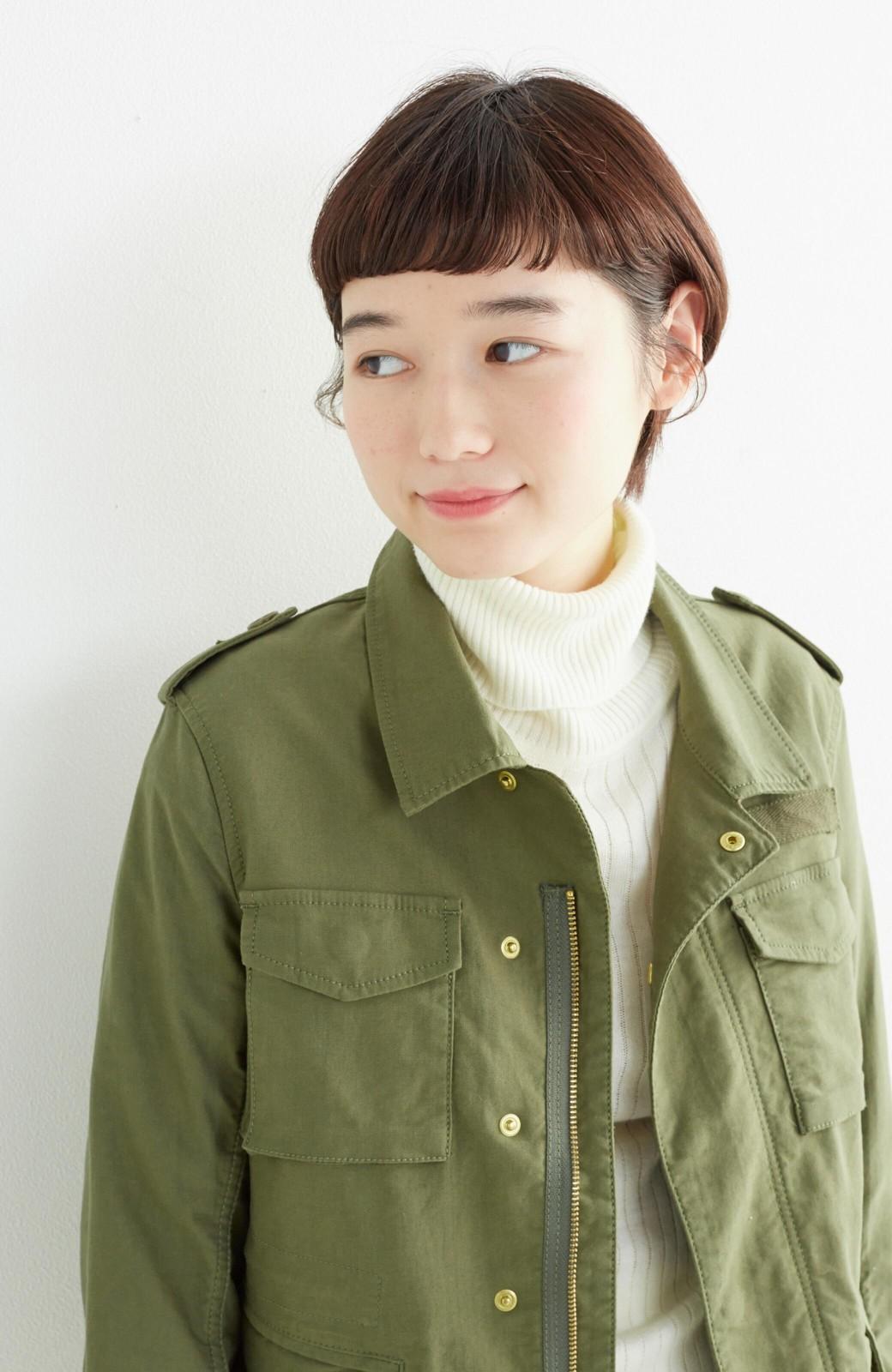エムトロワ シャツ感覚で気軽に羽織って様になる ミリタリージャケット <カーキ>の商品写真20