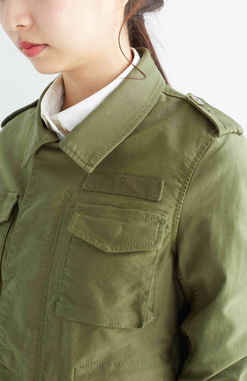 エムトロワ シャツ感覚で気軽に羽織って様になる ミリタリージャケット <カーキ>の商品写真21