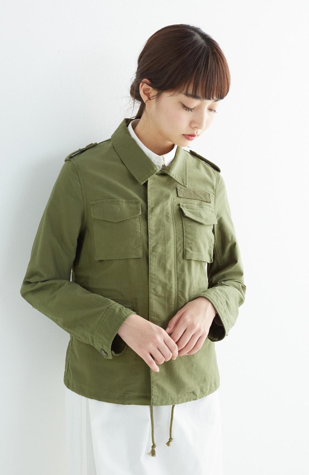 エムトロワ シャツ感覚で気軽に羽織って様になる ミリタリージャケット <カーキ>の商品写真9
