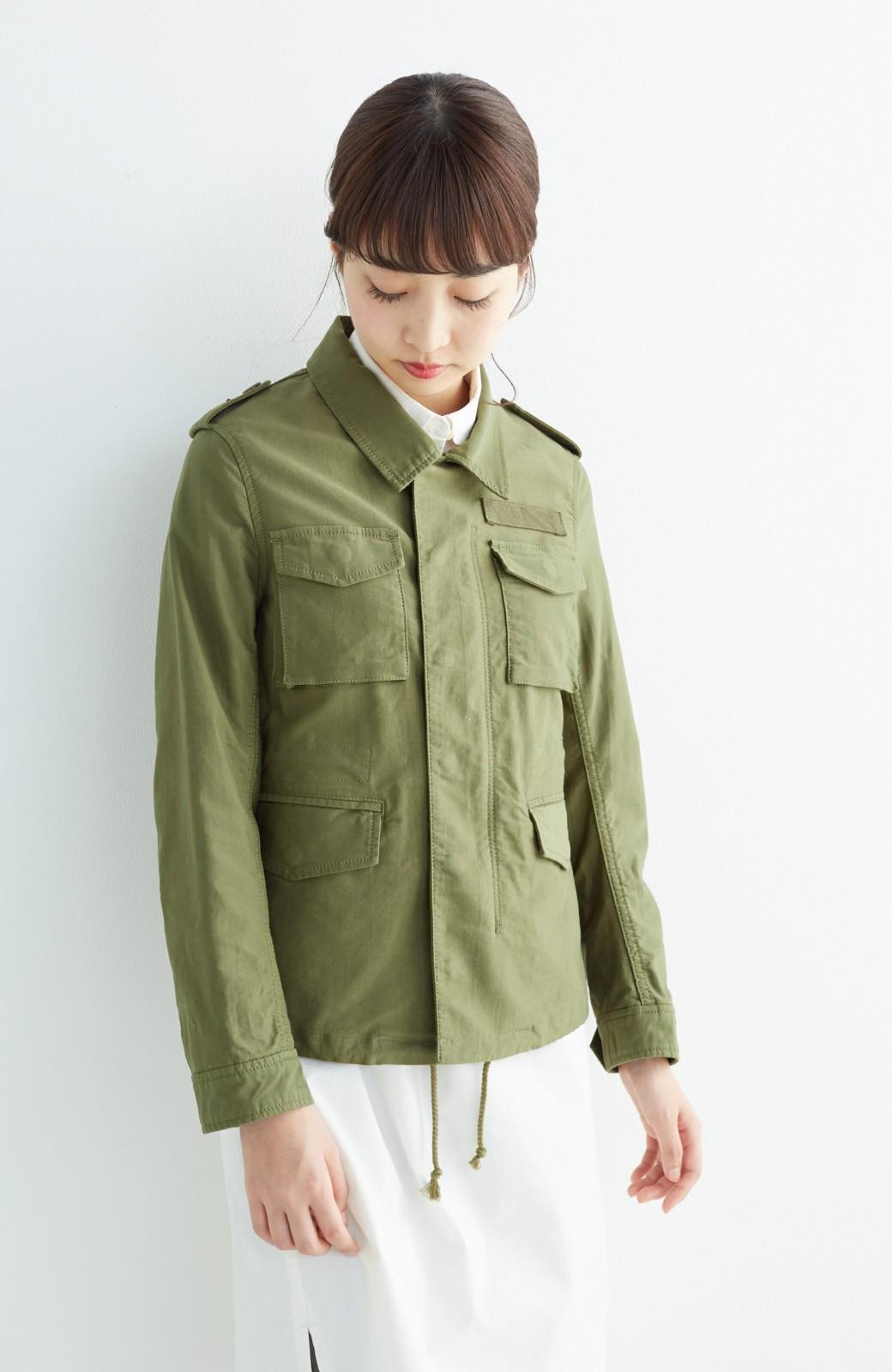 エムトロワ シャツ感覚で気軽に羽織って様になる ミリタリージャケット <カーキ>の商品写真10