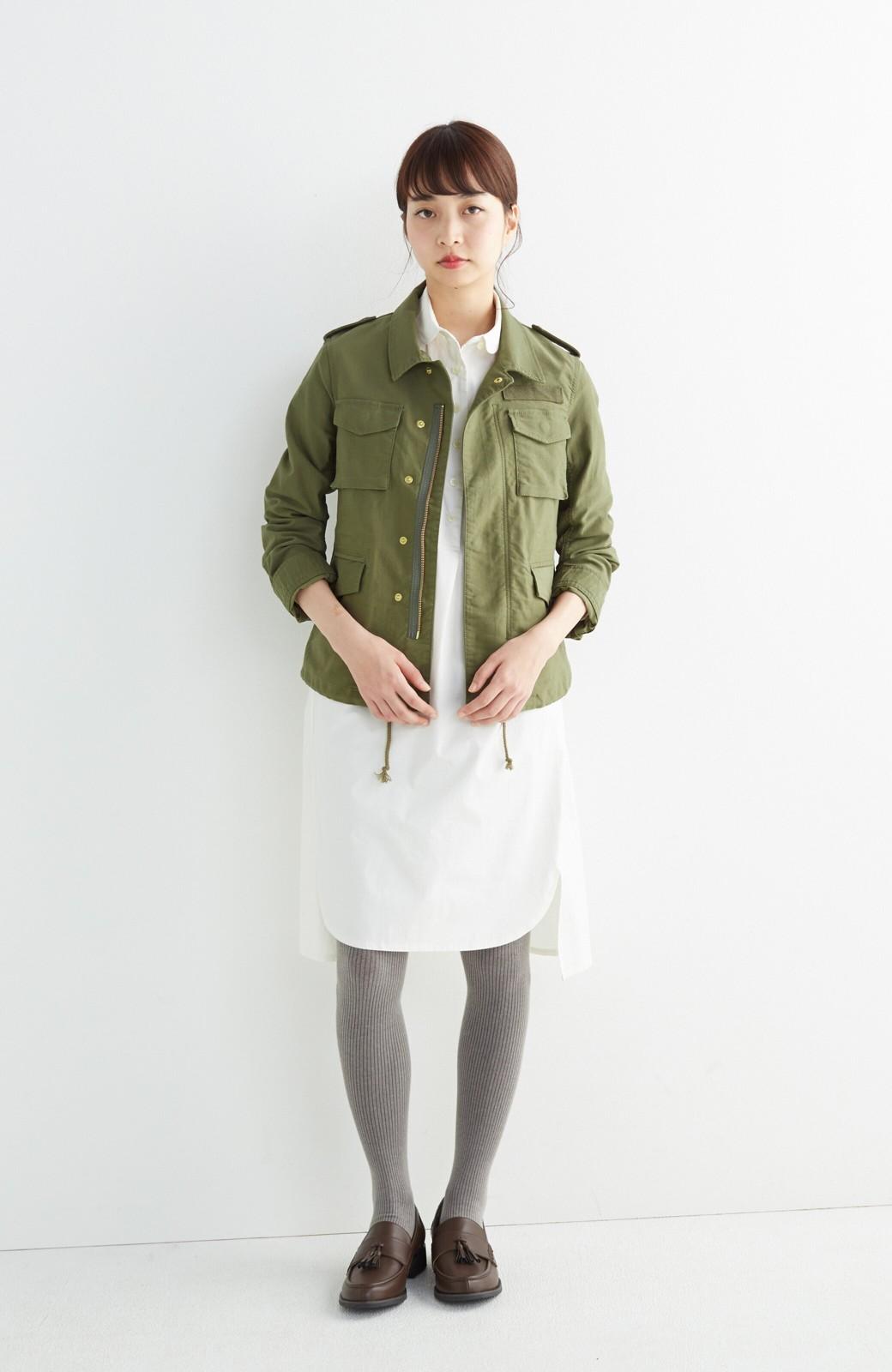 エムトロワ シャツ感覚で気軽に羽織って様になる ミリタリージャケット <カーキ>の商品写真4