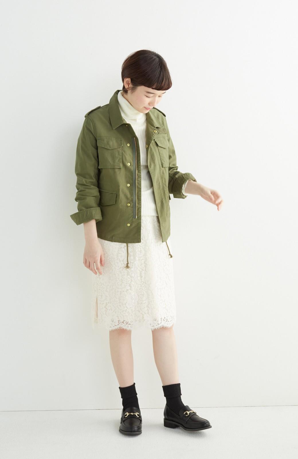 エムトロワ シャツ感覚で気軽に羽織って様になる ミリタリージャケット <カーキ>の商品写真5