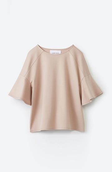 エムトロワ made in Japan 楽ちんきれいなラッフルスリーブトップス <ピンク>の商品写真