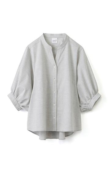 エムトロワ 大人かわいいぷっくり袖シャツ <グレー>の商品写真