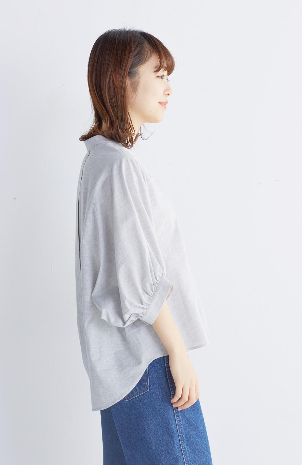 エムトロワ 大人かわいいぷっくり袖シャツ <グレー>の商品写真15