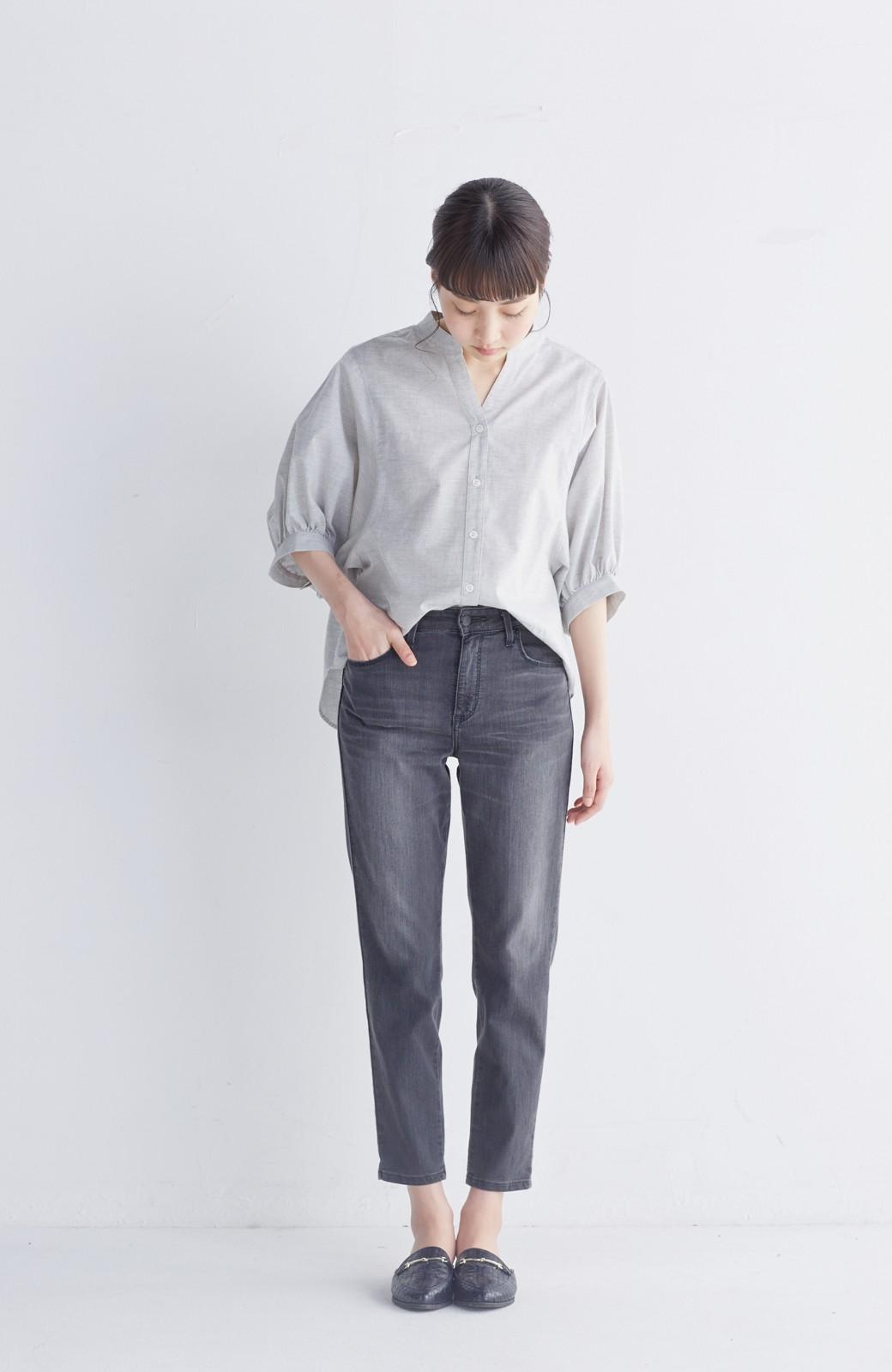 エムトロワ 大人かわいいぷっくり袖シャツ <グレー>の商品写真6