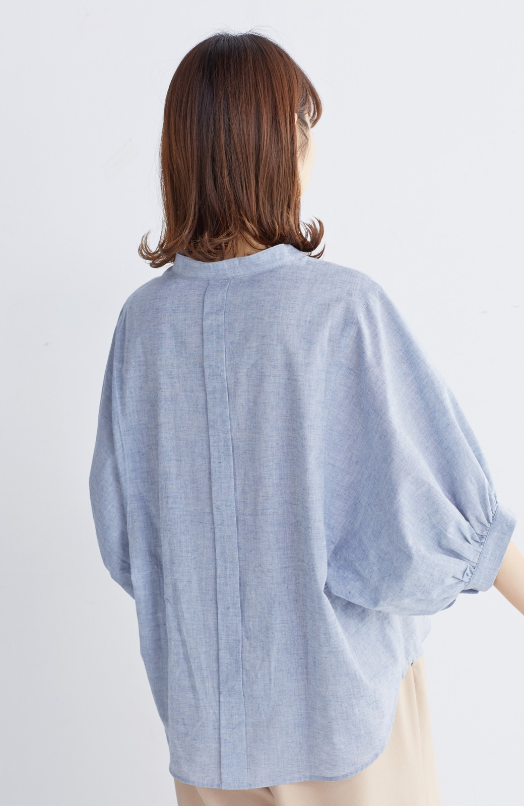 エムトロワ 大人かわいいぷっくり袖シャツ <ブルー>の商品写真13