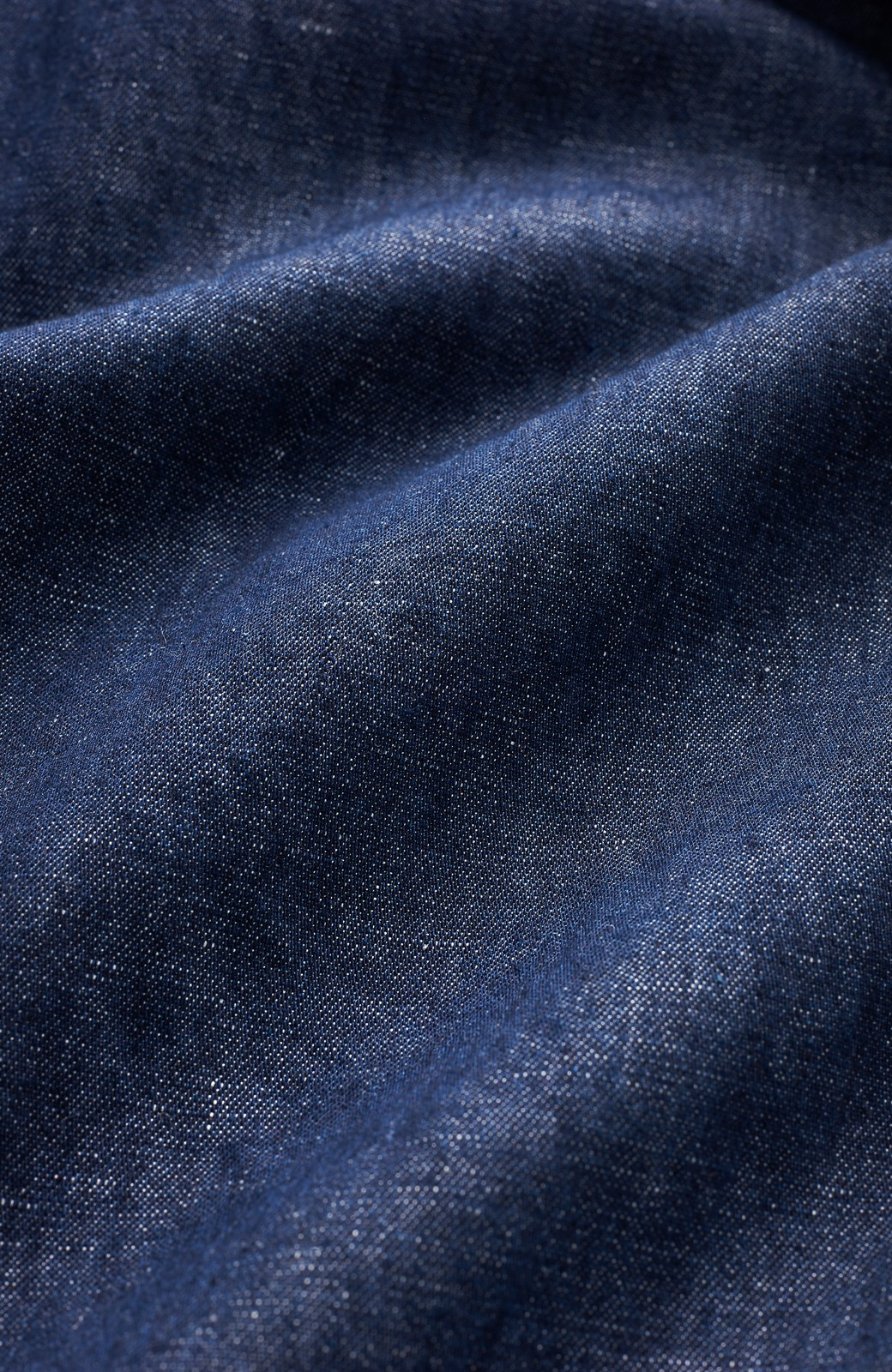 nusy 綿麻デニムのウエストリボンワイドパンツ <インディゴブルー>の商品写真2