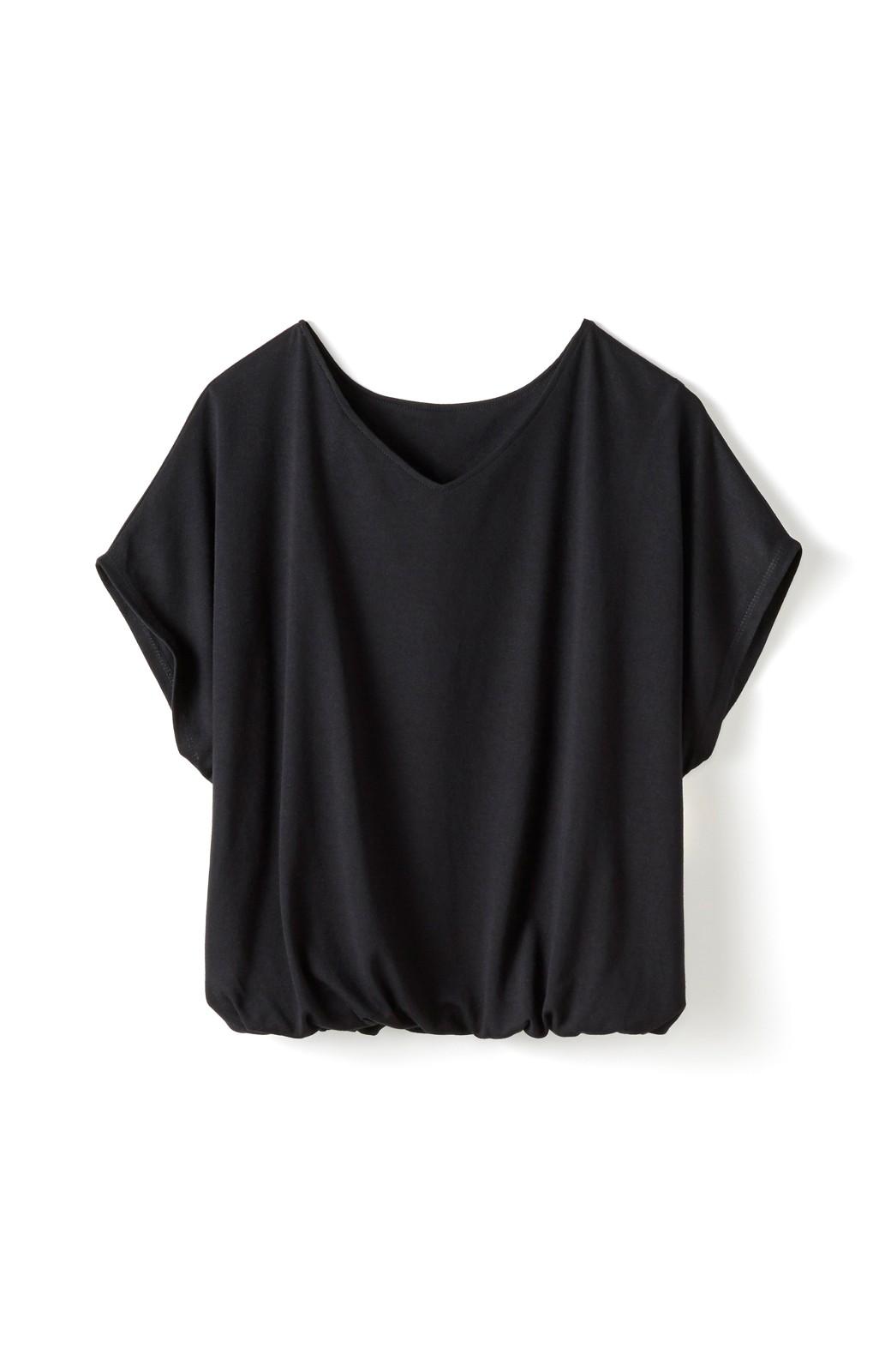 haco! 旅の救世主!3泊4日のテレコオールインワン&大人っぽTシャツセット <ブラック>の商品写真3
