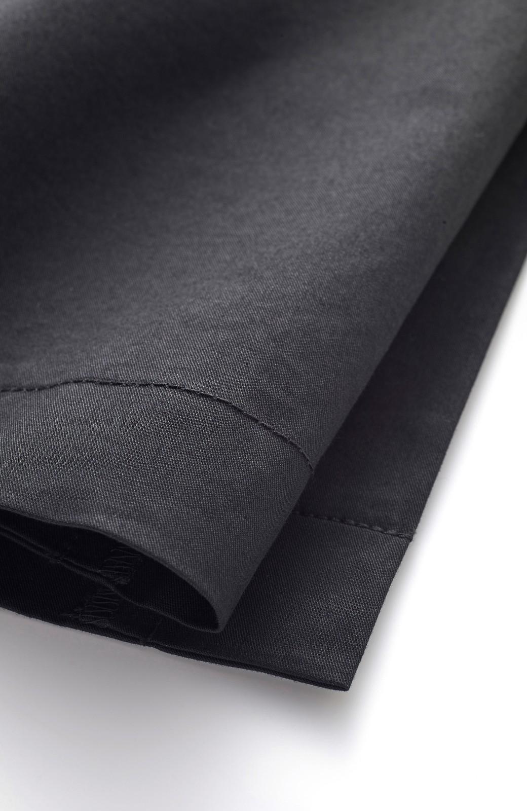 エムトロワ サイドチラ見えがすっと華奢に見せるタックワイドパンツ <ブラック>の商品写真2