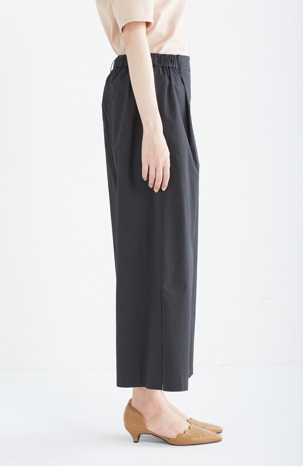 エムトロワ サイドチラ見えがすっと華奢に見せるタックワイドパンツ <ブラック>の商品写真4