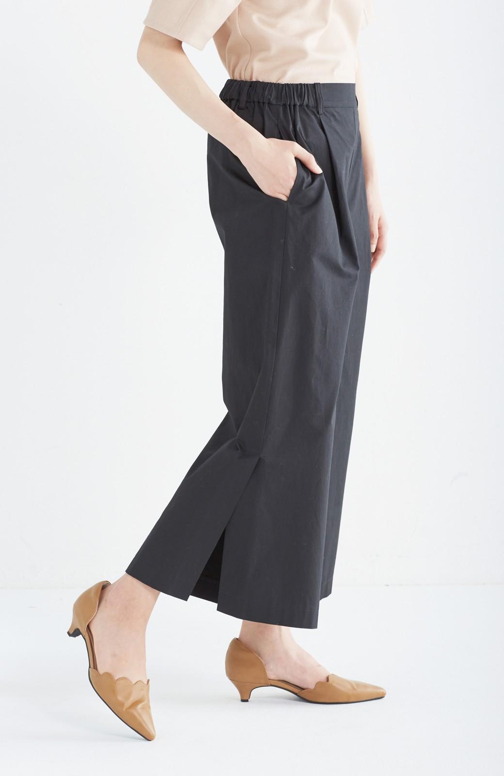 エムトロワ サイドチラ見えがすっと華奢に見せるタックワイドパンツ <ブラック>の商品写真5