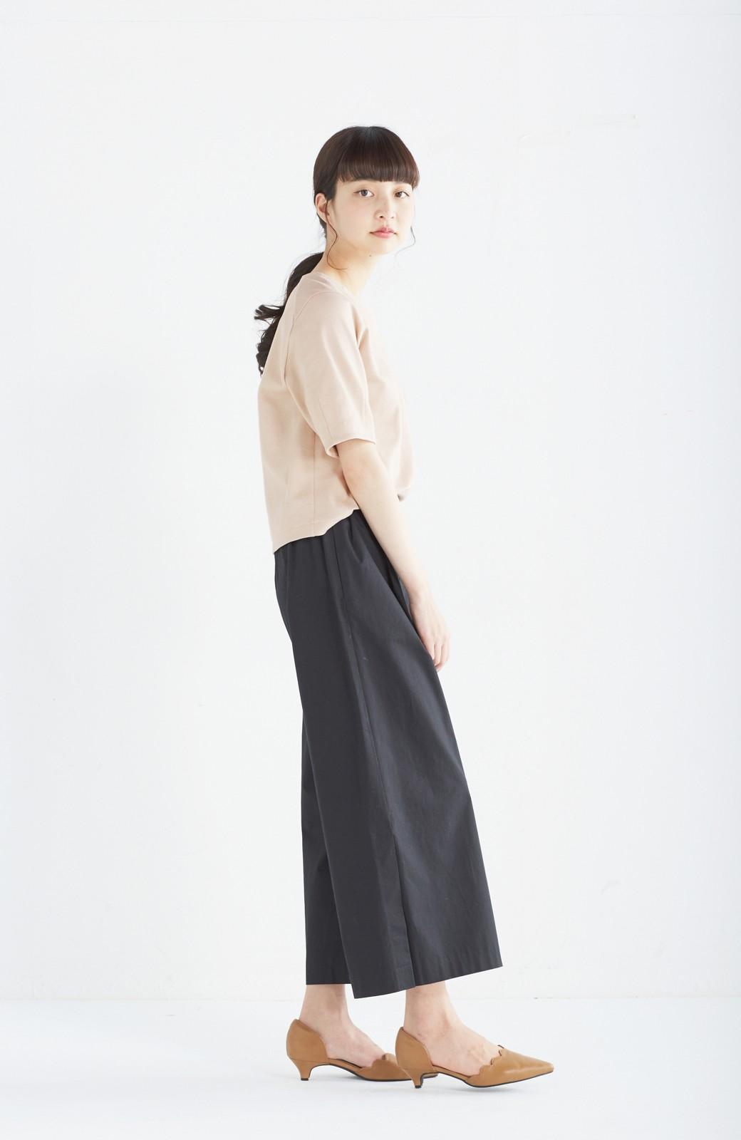 エムトロワ サイドチラ見えがすっと華奢に見せるタックワイドパンツ <ブラック>の商品写真16