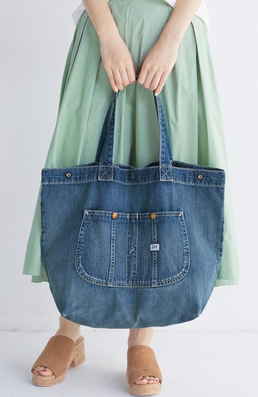 haco! Lee 大きい野菜もらくらく入るデニムショッピングバッグ <インディゴブルー>の商品写真6