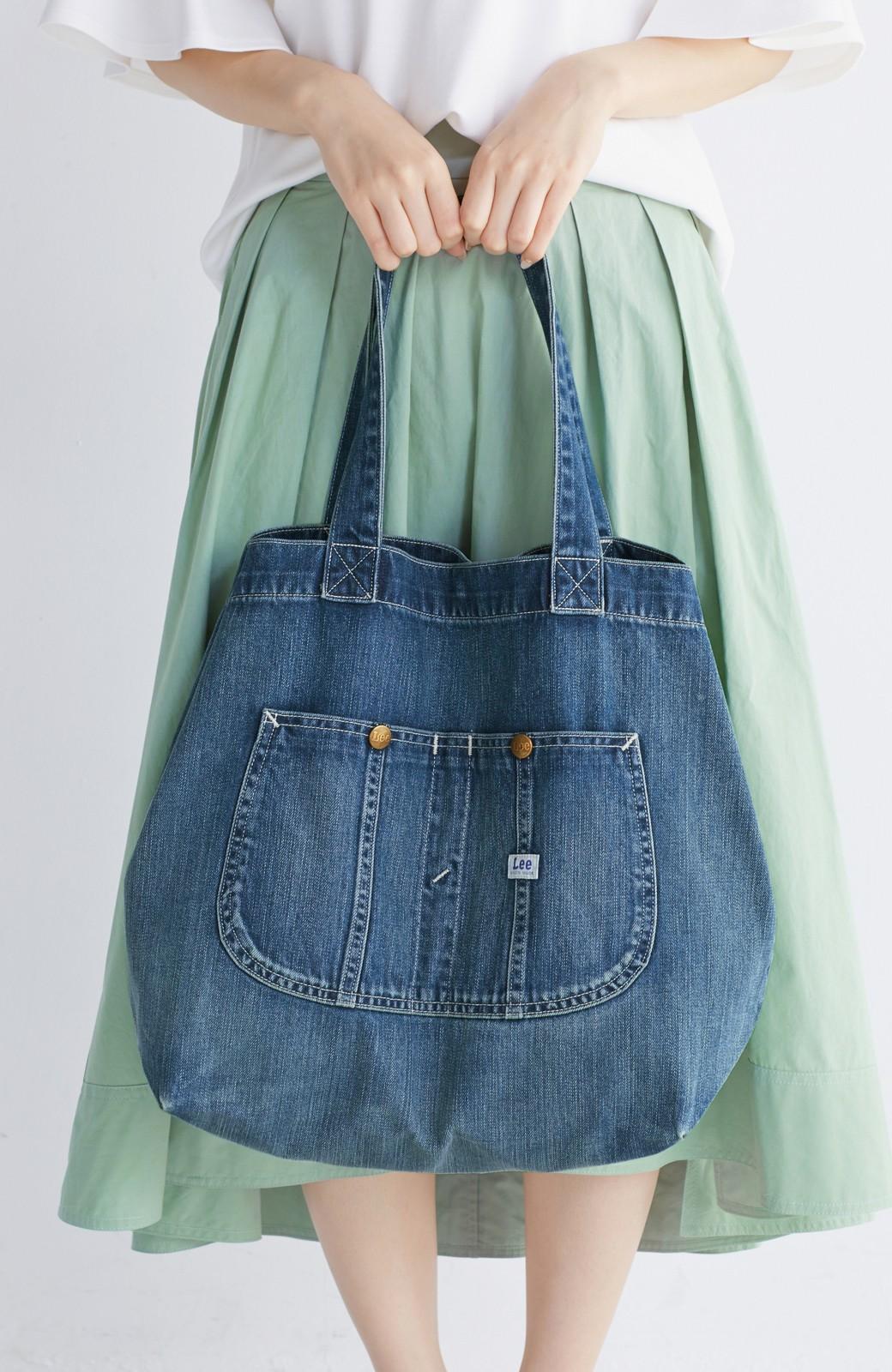 haco! Lee 大きい野菜もらくらく入るデニムショッピングバッグ <インディゴブルー>の商品写真8