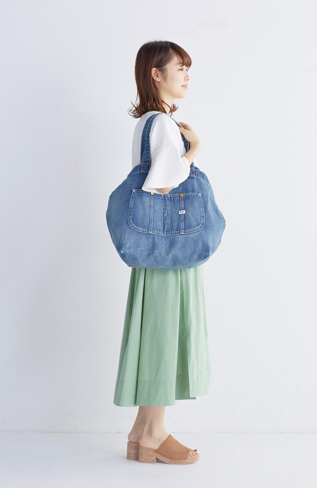 haco! Lee 大きい野菜もらくらく入るデニムショッピングバッグ <インディゴブルー>の商品写真10
