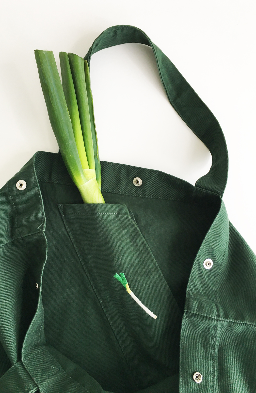 haco! Lee 大きい野菜もらくらく入るエコショッピングバッグ <グリーン>の商品写真3