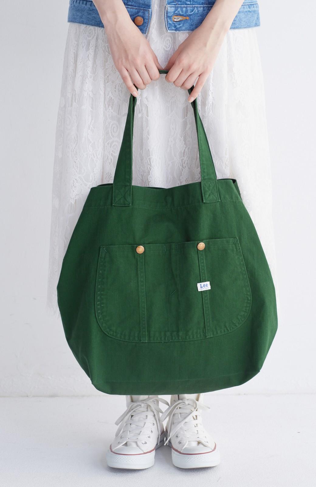 haco! Lee 大きい野菜もらくらく入るエコショッピングバッグ <グリーン>の商品写真12