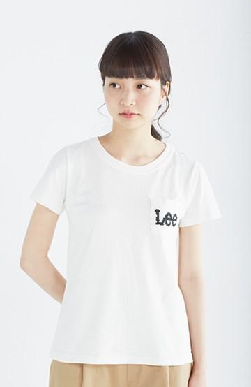haco! Lee クロスステッチ刺しゅうのポケットつきTシャツ <ホワイト>の商品写真