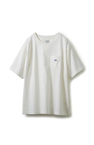 haco! Lee ロゴワッペンがかわいい ポケットつきTシャツ <ホワイト>の商品写真