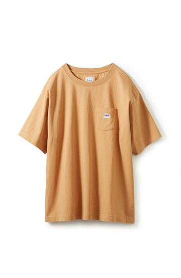 haco! Lee ロゴワッペンがかわいい ポケットつきTシャツ <ベージュ>の商品写真