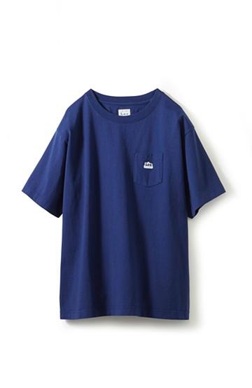 haco! Lee ロゴワッペンがかわいい ポケットつきTシャツ <ネイビー>の商品写真