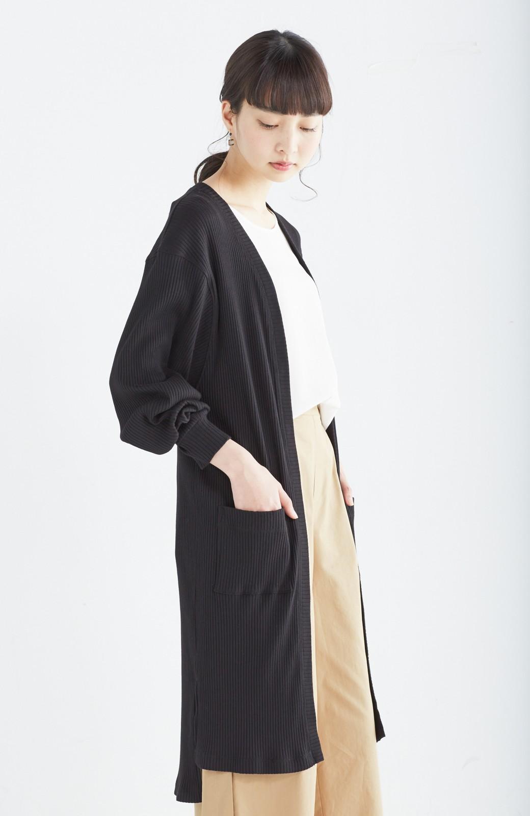 エムトロワ ひとクセ袖の上にも着られる!UVカット&吸水速乾素材のドルマン風カーディガン <ブラック>の商品写真11