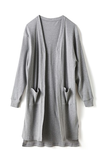 エムトロワ ひとクセ袖の上にも着られる!UVカット&吸水速乾素材のドルマン風カーディガン <グレー>の商品写真