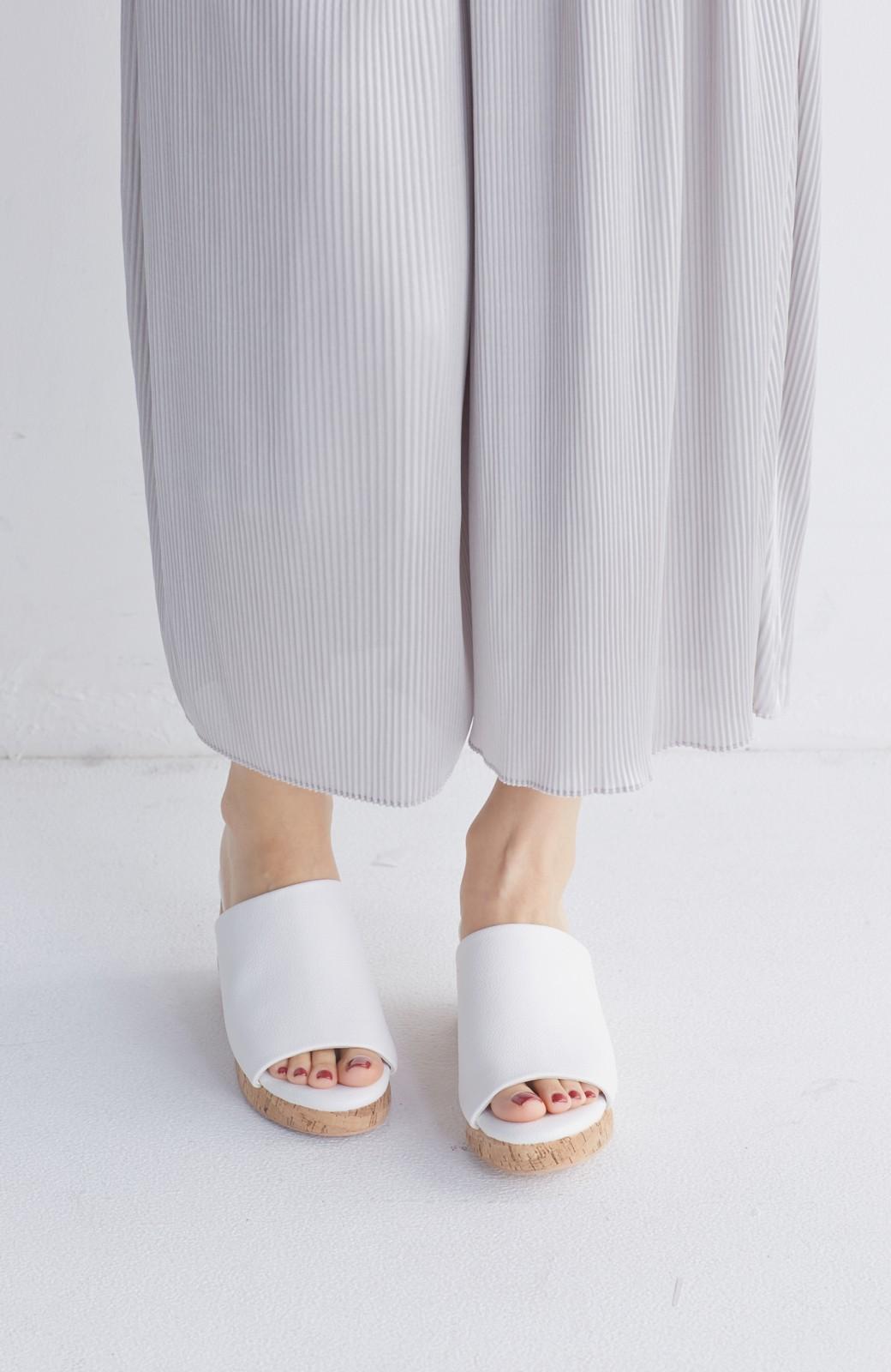 nusy 低&高反発で歩きやすい サボみたいにすぽっとはけるオープントゥサンダル <ホワイト>の商品写真2