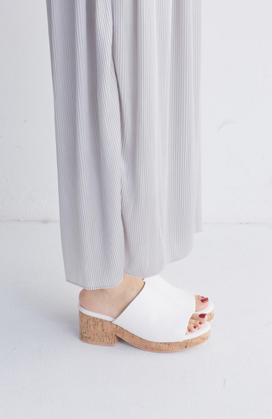 nusy 低&高反発で歩きやすい サボみたいにすぽっとはけるオープントゥサンダル <ホワイト>の商品写真3