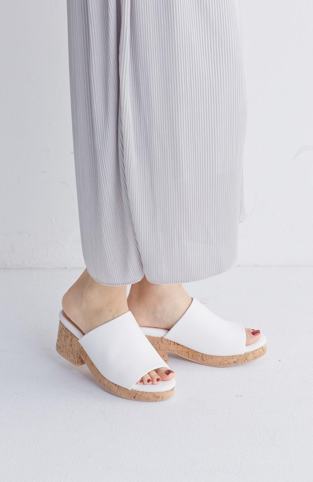 nusy 低&高反発で歩きやすい サボみたいにすぽっとはけるオープントゥサンダル <ホワイト>の商品写真4