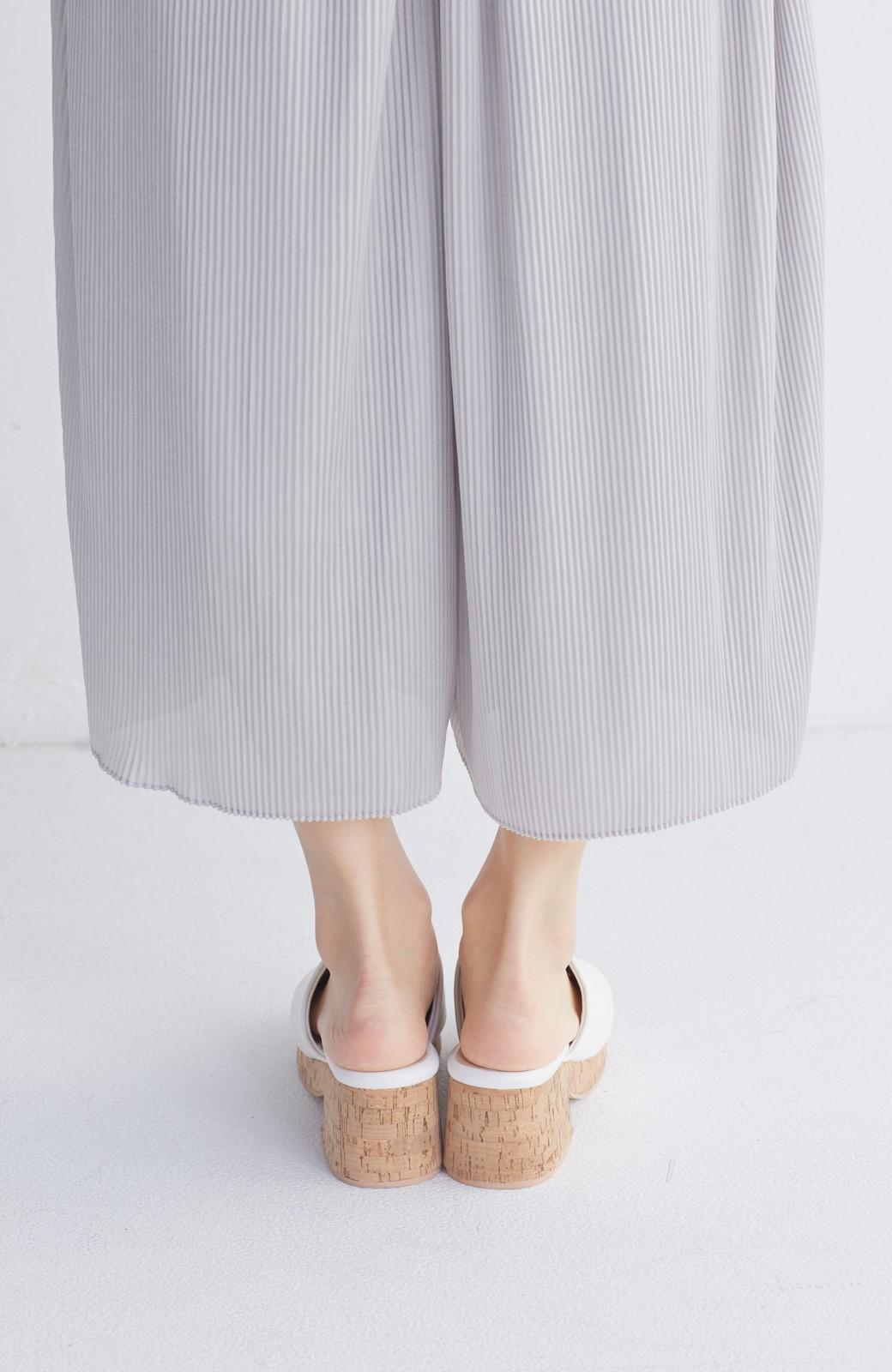 nusy 低&高反発で歩きやすい サボみたいにすぽっとはけるオープントゥサンダル <ホワイト>の商品写真5