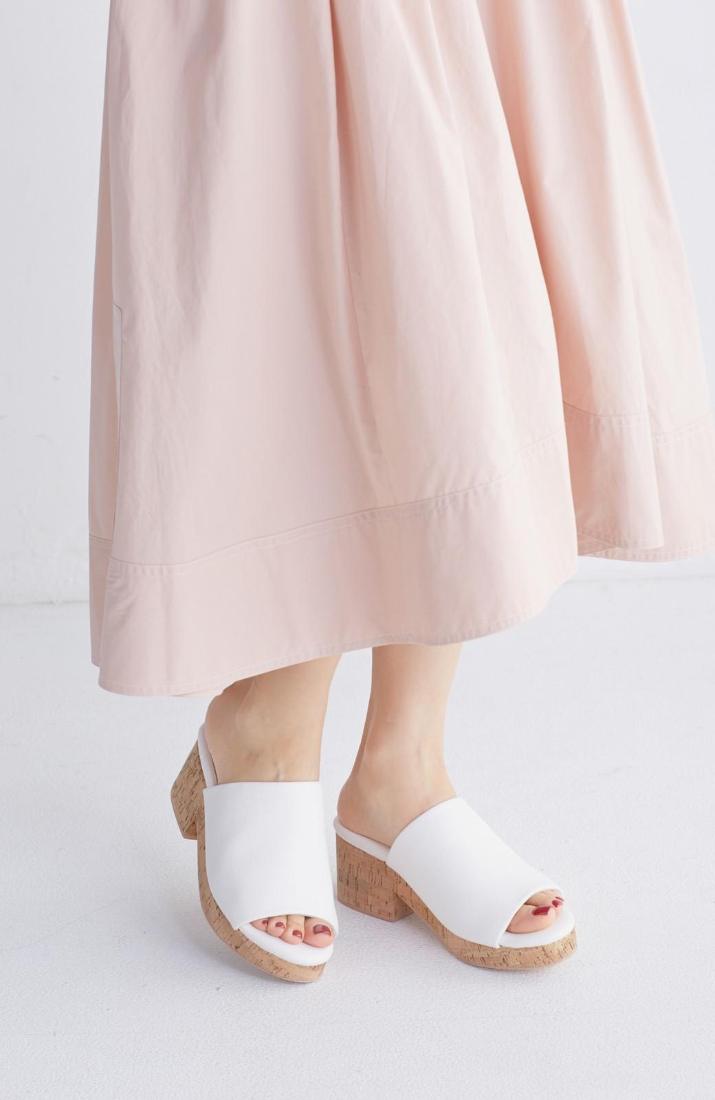 nusy 低&高反発で歩きやすい サボみたいにすぽっとはけるオープントゥサンダル <ホワイト>の商品写真13