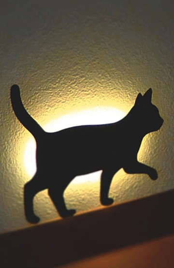 haco! CAT WALL LIGHT <ブラック>の商品写真