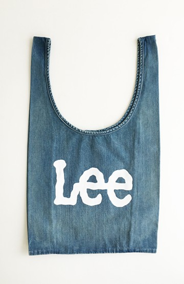 haco! Lee ショッピングバッグみたいなしっかり素材のコンビニエントエコバッグ <ライトインディゴブルー>の商品写真