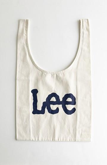 haco! Lee 大きめロゴがかわいいコンビニエントエコバッグ <ホワイト>の商品写真