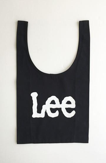 haco! Lee 大きめロゴがかわいいコンビニエントエコバッグ <ブラック>の商品写真