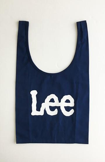 haco! Lee 大きめロゴがかわいいコンビニエントエコバッグ <ネイビー>の商品写真