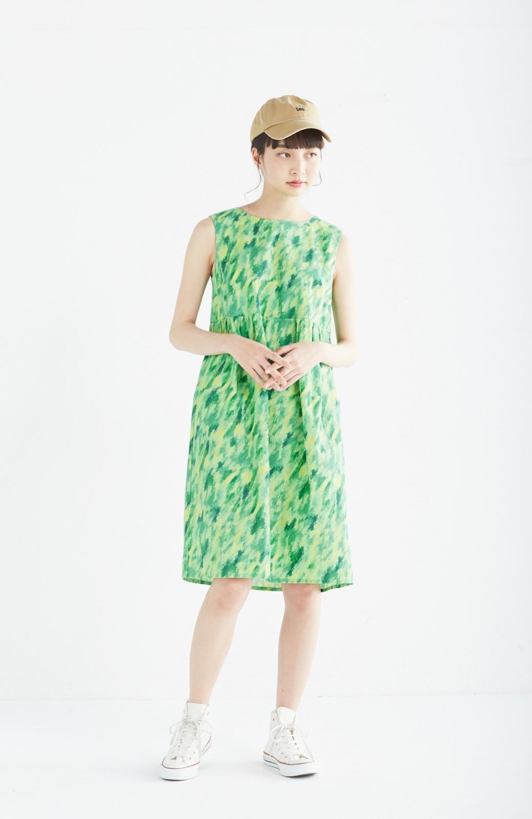 haco! UNICOLART mai [げんきになあれ] 大人も着られるノースリーブワンピース <グリーン系その他>の商品写真8