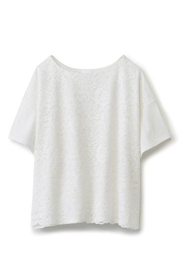 エムトロワ 気軽に大人かわいいレースTシャツ <ホワイト>の商品写真