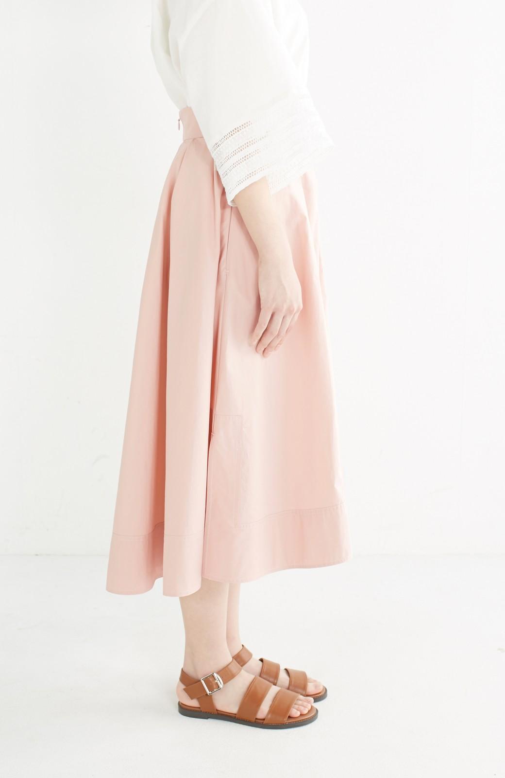 エムトロワ きれい色のイレギュラーヘムスカート <ピンク>の商品写真4