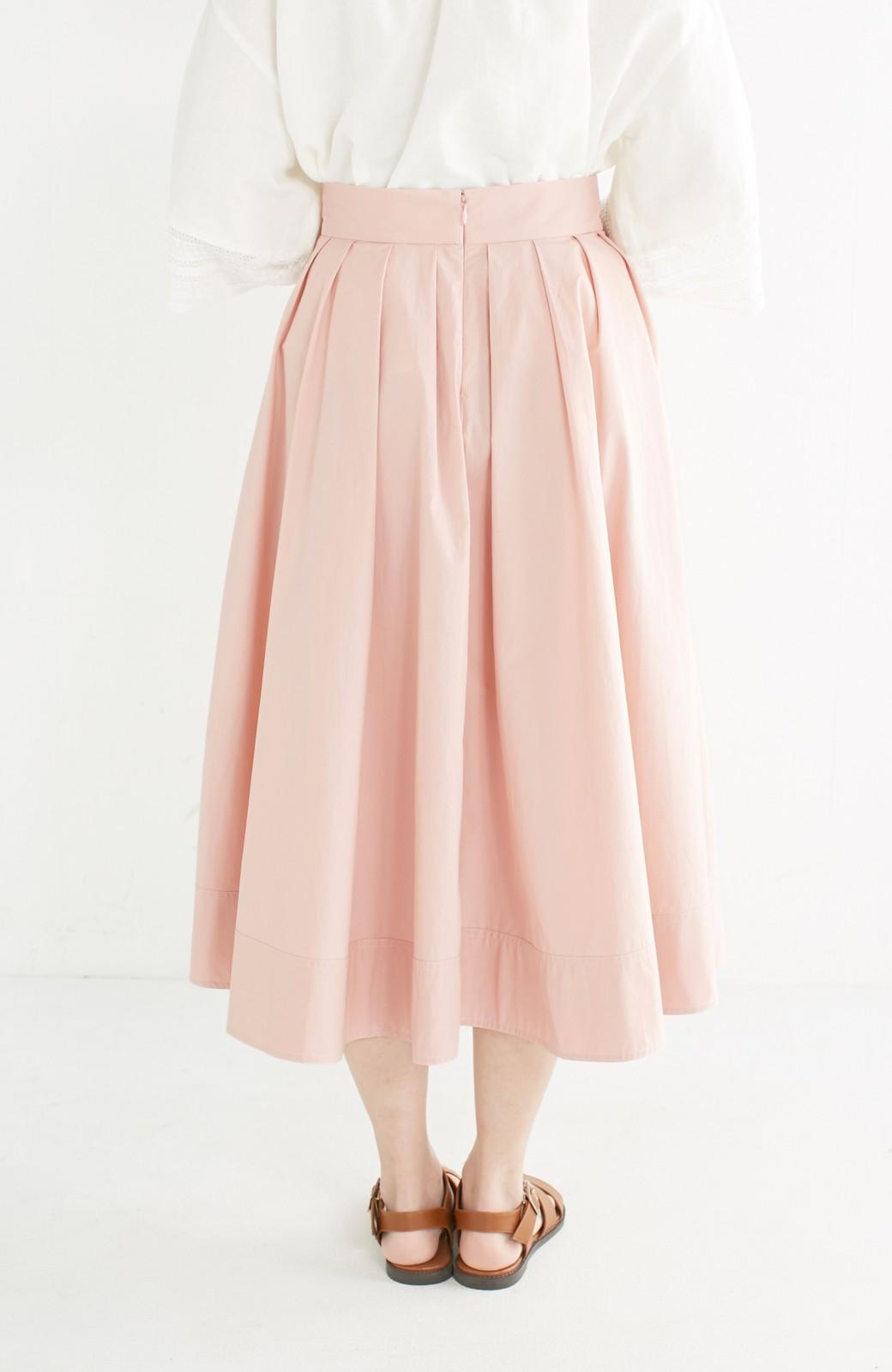 エムトロワ きれい色のイレギュラーヘムスカート <ピンク>の商品写真5
