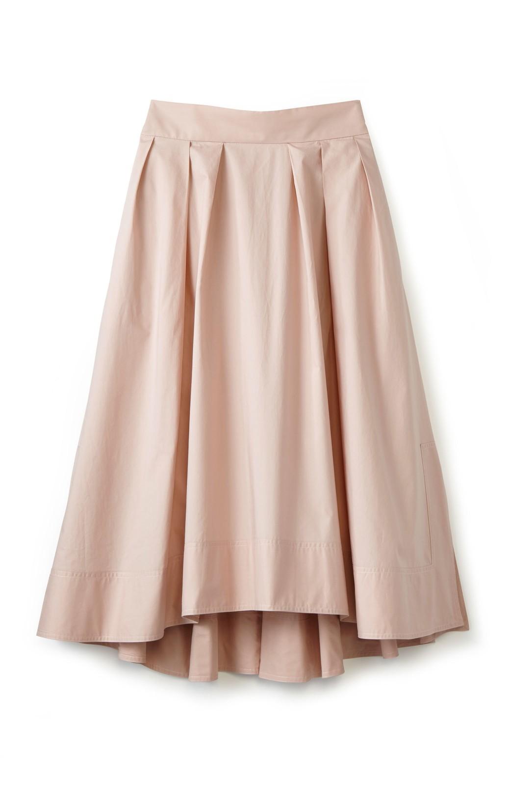 エムトロワ きれい色のイレギュラーヘムスカート <ピンク>の商品写真1