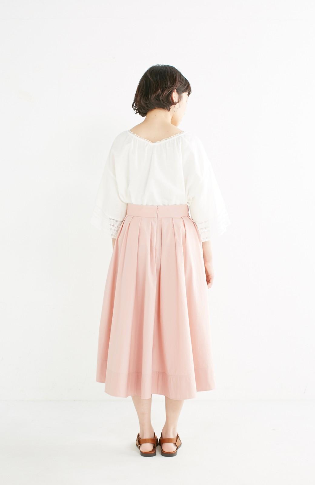 エムトロワ きれい色のイレギュラーヘムスカート <ピンク>の商品写真11