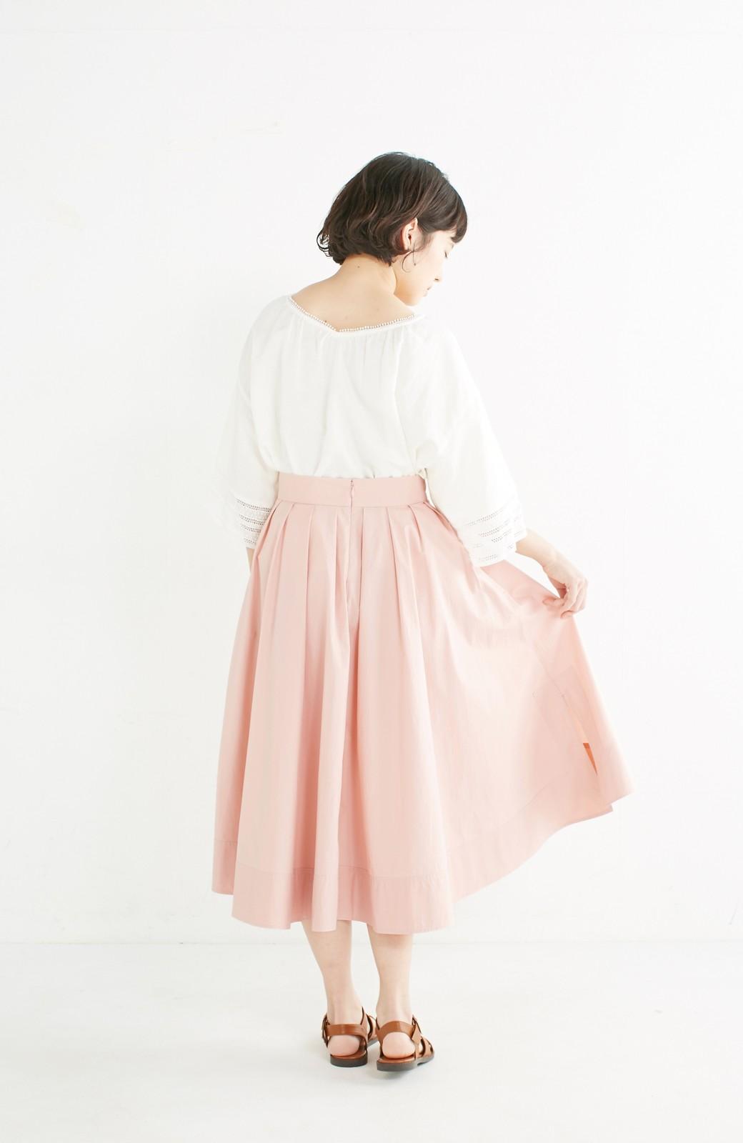 エムトロワ きれい色のイレギュラーヘムスカート <ピンク>の商品写真12