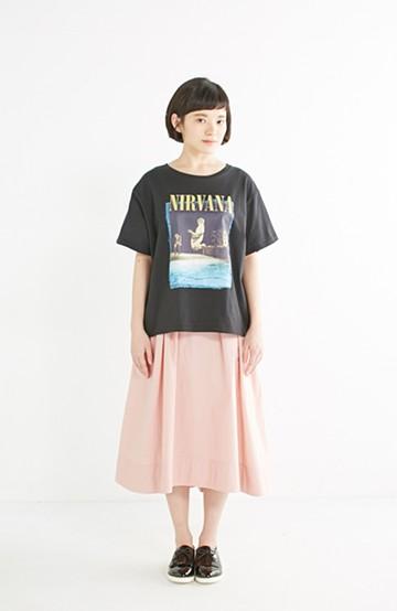 エムトロワ きれい色のイレギュラーヘムスカート <ピンク>の商品写真